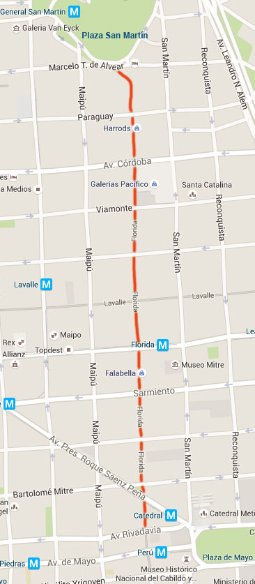 mapa rua florida